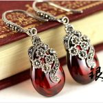 Genuine 925 sterling <b>silver</b> jewelry Thai <b>silver</b> <b>earrings</b> female restoring ancient ways Garnet <b>earrings</b> pendants/package mail