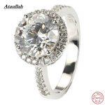 Ataullah Engagement 925 <b>Sterling</b> <b>Silver</b> 2 Carat SONA/NSCD Lab Made Diamond Rings for Women Wedding <b>Silver</b> Ring <b>Jewelry</b> RWD885-1