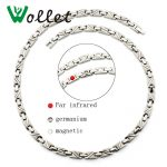 Wollet <b>Jewelry</b> Health Energy Magnetic <b>Necklace</b> Infrared Germanium Pure Titanium Relieve Fatigue Cervical Spine <b>Necklace</b> Gifts