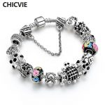 CHICVIE Black Turtle & Dollar Sign Custom LOVE Flower DIY Bracelets & Bangles For Women Charms <b>Jewelry</b> <b>Making</b> Bracelet SBR170092