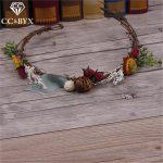 CC <b>Jewelry</b> Wedding Decorations Hair Ornaments Crowns For Beauty Bridal Hair Accessories Bride Flowers <b>Handmade</b> For Women 1609