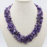 Natural Irregular Purple Alexandrite Beads 3Rows Necklace Chain Female <b>Jewelry</b> Party Gifts 18inch Lucky Stone Women <b>Accessories</b>