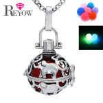 <b>Antique</b> Silver Elephant Hollow Floating Locket Glow Beads Pendant Necklace Perfume Essential Oil Diffuser Aromatherapy <b>Jewelry</b>