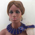 Chunky Royal Blue Big Bold <b>Handmade</b> <b>Jewelry</b> Sets African Crystal Beads Necklace Set Nigerian Wedding Free Shipping HD8432
