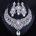 FARLENA Wedding <b>Jewelry</b> Classic Indian Bridal Necklace Earrings and Frontlet set Luxury Crystal Rhinestones <b>Jewelry</b> sets