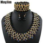 MayJim Statement necklace 2018 fashion <b>jewelry</b> sets <b>Handmade</b> bead chain big Pearl dubai <b>jewelry</b> sets Vintage beads Bijoux