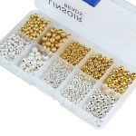 1box/lot 3/4/6/8mm Gold/<b>Silver</b> Mixed Round Copper Spacer Beads Ball End Seed Beads For Necklace <b>Bracelet</b> Jewelry Making F3462