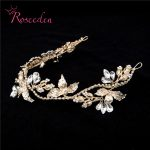 Gorgeous Crystal Rhinestone hairpiece handmade Hair ornaments bridal <b>jewelry</b> wedding party accessories for women RE720