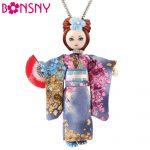 Bonsny Statement Japanese Doll Necklace Dress Handmade French Doll Pendant 2017 News Alloy Girl Women Flower <b>Fashion</b> <b>Jewelry</b>