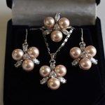 Prett Lovely Women's Wedding <b>Jewelry</b> Sets Fashion 8mm Coffee Shell Pearl Earring Pendant Ring 7/8/9 silver <b>Jewelry</b> Set