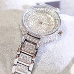 FUYIJIA New <b>Silver</b> <b>Bracelet</b> Female Watch Ladies Brand Quartz Watch Woman Dress Watch Full Diamond Luxury Girl Clock Waterproof