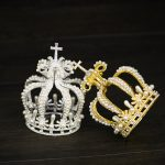 Trendy Gold <b>Silver</b> Tiaras And Crowns Crystal Pearl Hair <b>Jewelry</b> For Wedding Women Small Round Crown Bridal Hair Accessories