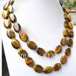 Natural oval tiger eye stone 13x18mm charming loose beads diy European style Necklace <b>making</b> 36″ GE1481