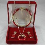 Prett Lovely Women's Wedding <b>Jewelry</b> Red gem Circle dragon Pendant Necklace Earring Bracelet set 5.23 silver-<b>jewelry</b> brinco