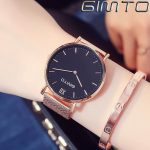 Women Watch GIMTO Brand Dress <b>Bracelet</b> Watches New Fashion rose gold <b>silver</b> Stainless Steel Clock Sport Lovers Watch Relogio