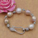 freshwater pearl reborn keshi mix-colors baroque 8-13mm <b>bracelet</b> FPPJ wholesale beads nature