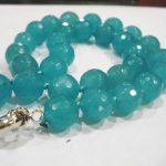 Charming brazilian blue auamarine faceted round 8mm beads diy necklace top quality trendy gift <b>jewelry</b> <b>making</b> 32inch BV155