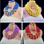 Latest New Statement Necklace African Wedding Beads Bridal <b>Jewelry</b> Sets <b>Handmade</b> Nigerian Beads Free Shipping ABY185