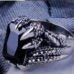 <b>Handmade</b> 925 Silver Dragon Paw Ring Vintage Thai Silver Dragon Power Man Ring Pure Silver <b>Jewelry</b> Finger Ring Gift