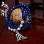 FREE SHIPPING S925 pure <b>silver</b> <b>bracelet</b> Women natural lapis lazuli pearl <b>silver</b> <b>bracelet</b> Women necklace gift dual