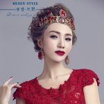 Baroque crown headdress bride <b>jewelry</b> <b>wedding</b> crown red crown studio beauty queen crown