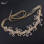 Miallo Wedding Bride Headbands Fashion Gold Color <b>Handmade</b> Head Vine Women Hair <b>Jewelry</b> Headpieces Bride's tiara Hairpieces
