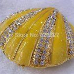 <b>handmade</b> shell ring <b>jewelry</b> boxes metal seashell <b>jewelry</b> box for a beach wedding or bridesmaid gift
