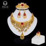 BAUS Bridal <b>jewelry</b> sets 2018 Exquisite African Beads <b>Jewelry</b> Set Dubai Gold Color <b>Jewelry</b> Set Nigerian <b>Wedding</b> big necklace set