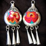 Retro ball tassel earrings embroidery ethnic Miao silver earrings fine <b>jewelry</b> <b>handmade</b> fashion best birthday gift