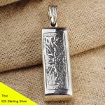 925 Sterling <b>Silver</b> Retro Harmonica Necklace Pendant Men Thai <b>Silver</b> Fine <b>Jewelry</b> Gift CH003817
