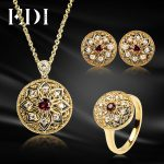 EDI Women Natural Garnet Ring Gemstone 925 <b>Sterling</b> <b>Silver</b> Earrings Pendant Necklace For Women Wedding Decoration <b>Jewelry</b> Sets