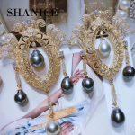SHANICE Zircon Baroque Palace Brooch Pendant For Women Natural Stone Beads Pearl Tassel Chocker Necklace DIY <b>Making</b> Supplies