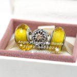 3pcs Fashion S925 Silver Yellow Murano Glass Charms Beads <b>Jewelry</b> Set Fit DIY Bracelets Necklaces <b>Jewelry</b> <b>Making</b> Woman Gift