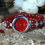 Beauties of Emperor EPOZZ nature gemstone series new quartz watch for women Red Agate <b>bracelet</b> luxury fashion clock H0822S1