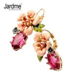 Jardme 2018 Exquisite Enamel Camellia Stud Earrings for Women Cute Showy Bijou Wedding Party Gift Apparel <b>Accessories</b> <b>Jewelry</b>