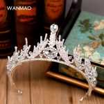 High-end bridal crown <b>handmade</b> beaded headdress princess wedding crown wedding dress accessories female <b>jewelry</b> HD422