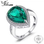 JewelryPalace Luxury Pear 4.9ct Created Emeralds 100% Real 925 Sterling Silver Engagement Rings Women 2017 Brand Fine <b>Jewelry</b>