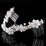 Bridal Hair Comb Headband Crown Tiara Handwork Beaded Pearl Flower <b>Jewelry</b> Wedding Hair Accessories DIY Hair Ornaments Wholesale