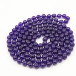 (Min Order1) 8mm Russican Chalcedony Round Beads Necklace For Women Hand Made Fashion <b>Jewelry</b> <b>Making</b> Design Natural Stone 50inch