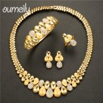 OUMEILY African <b>Jewelry</b> Set 2018 Nigerian Wedding <b>Jewelry</b> Set For Women Gold Indian Jewellery Set For Brides Crystal Jewellery