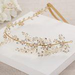 Wedding <b>Handmade</b> Gold Hairbands Brides Korean Soft Rhinestone Tiara Headwear Crystal Hair <b>Jewelry</b>