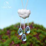 Lotus Fun Real 925 Sterling <b>Silver</b> Natural Handmade Fine <b>Jewelry</b> Ethnic Cloud Long Tassel Pendant without Necklace for Women