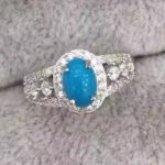 Natural green turquoise Ring Natural gemstone Ring 925 <b>sterling</b> <b>silver</b> trendy luxurious Thick round women's party fine <b>Jewelry</b>