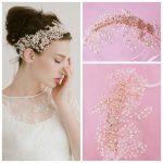 Jonnafe Crystal Pearl Gold Wedding Headband Hair Accessories Floral Bridal Tiara Headpiece <b>Handmade</b> Women Hair <b>Jewelry</b>