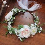 CC Flower Tiara Crown Wreath Forest Style Garland Wedding Hair Accessories For Bridal Bridesmaids 100% <b>Handmade</b> <b>Jewelry</b> mq018