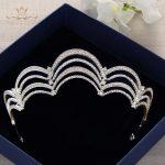 Bavoen Silver Royal Queen Cubic Zircon <b>Wedding</b> Crowns Tiaras Crystal Evening Hairbands Brides Hair Accessories Prom <b>Jewelry</b>