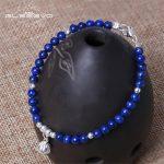 GLSEEVO S925 Sterling <b>Silver</b> Simple <b>Bracelet</b> Female Ethnic Style Design Natural Lapis Lazuli Adjustable <b>Bracelet</b> Jewelry GB0032