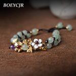 BOEYCJR Vintage Stone Beads Bangles & Bracelets <b>Handmade</b> <b>Jewelry</b> Ethnic Energy Natural Stone Beads Bracelet for Women Gift 2018
