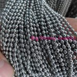 Wholesale 100 Meters 1.5/2.0/2.4/3.2/4mm Heavy 316L Stainless steel Unisex <b>Silver</b> Beads Chains DIY Necklace <b>Bracelet</b> In Bulk