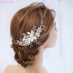 Jonnafe New Design Bridal Flower Headpiece Hair Comb Pearls Wedding Prom Hair <b>Jewelry</b> Accessories <b>Handmade</b> Women Hairwear
